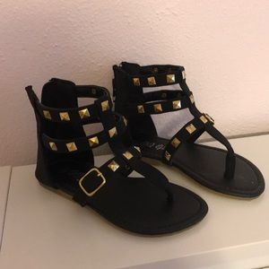Other - Girls Size 9 black Gladiator Sandal